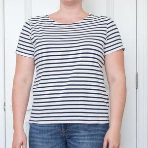 Navy/White Striped Tee
